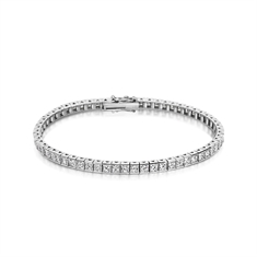 8.67ct Princess Cut Channel Set Diamond Line Bracelet